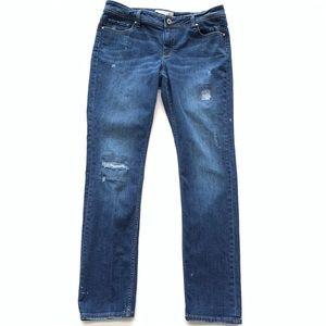 Banana Republic Blue distressed Jeans Womens Sz 12